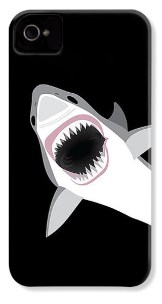 Great White Shark IPhone 4s Case by Antique Images