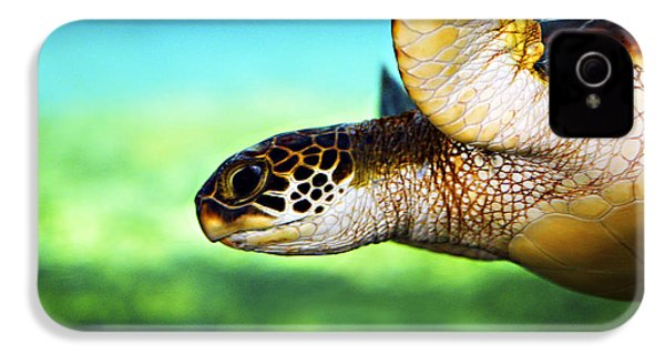 Green Sea Turtle IPhone 4s Case by Marilyn Hunt