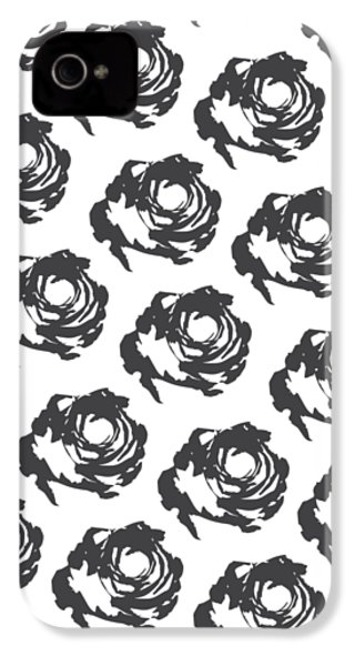 Grey Roses IPhone 4s Case by Cortney Herron