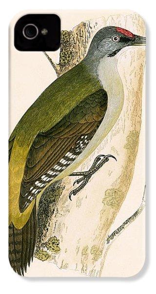 Grey Woodpecker IPhone 4s Case by English School