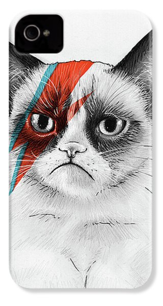Grumpy Cat As David Bowie IPhone 4s Case by Olga Shvartsur