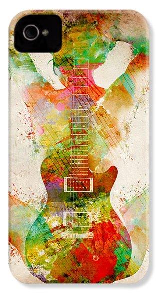 Guitar Siren IPhone 4s Case by Nikki Smith