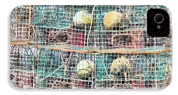 IPhone 4s Case featuring the digital art Gulf Coast Crab Traps by JC Findley