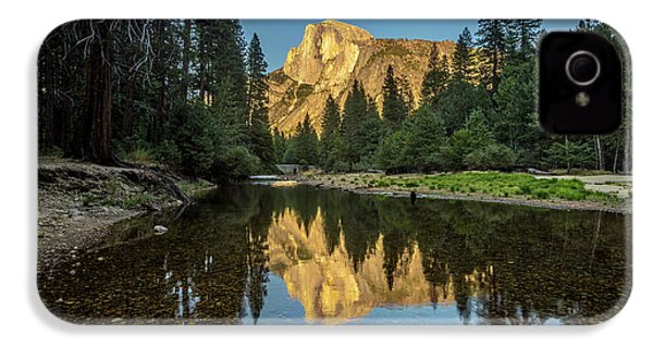 Half Dome From  The Merced IPhone 4s Case by Peter Tellone