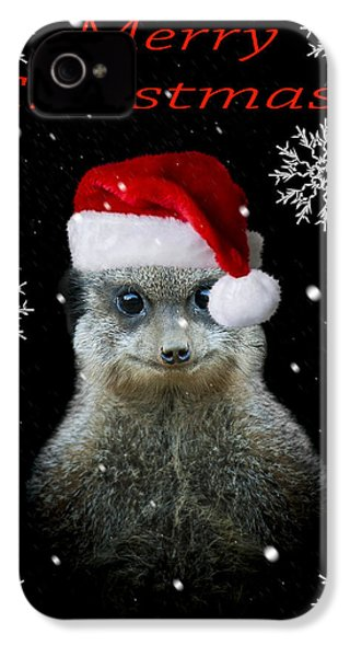 Happy Christmas IPhone 4s Case by Paul Neville