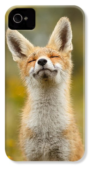 Happy Fox IPhone 4s Case