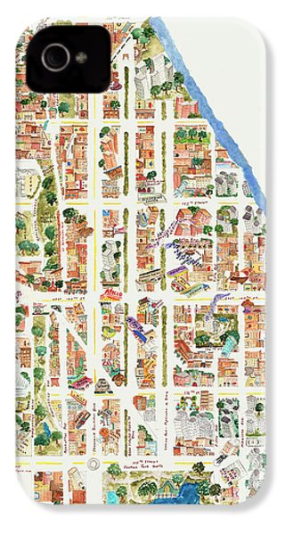 Harlem From 110-155th Streets IPhone 4s Case by Afinelyne