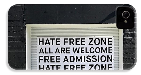 Hate Free Zone IPhone 4s Case by Julie Gebhardt