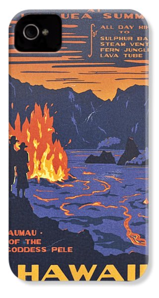 Hawaii Vintage Travel Poster IPhone 4s Case