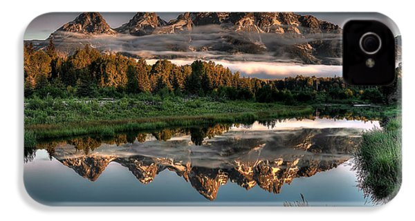 Hazy Reflections At Scwabacher Landing IPhone 4s Case by Ryan Smith