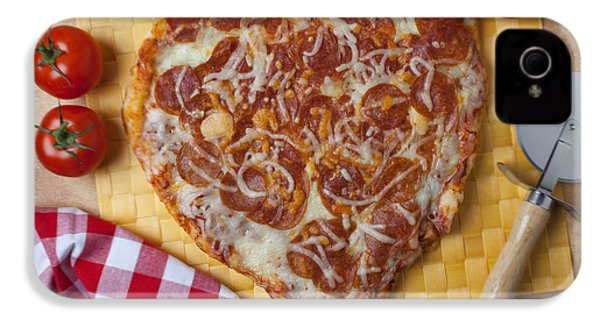 Heart Shaped Pizza IPhone 4s Case by Garry Gay
