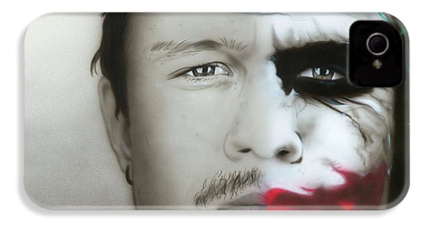 ' Heath Ledger / Joker ' IPhone 4s Case by Christian Chapman Art