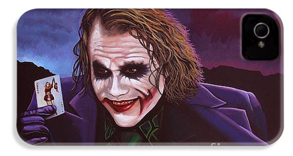 Heath Ledger As The Joker Painting IPhone 4s Case by Paul Meijering