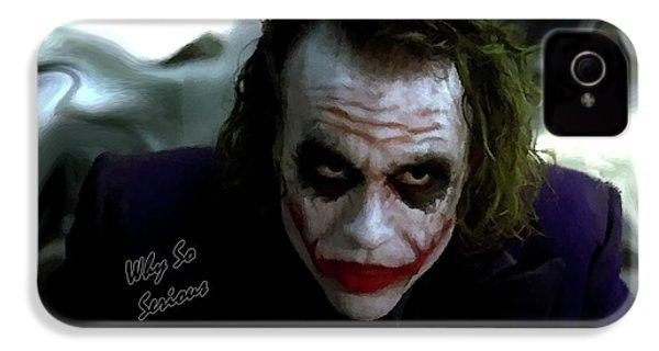 Heath Ledger Joker Why So Serious IPhone 4s Case by David Dehner