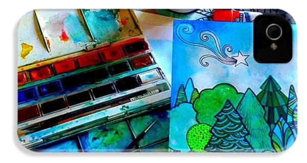 Here Is My Newest Watercolor And Ink IPhone 4s Case by Robin Mead