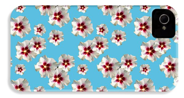 IPhone 4s Case featuring the mixed media Hibiscus Flower Pattern by Christina Rollo