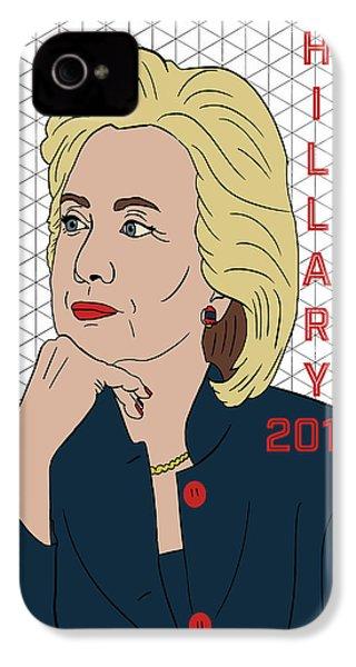 Hillary Clinton 2016 IPhone 4s Case by Nicole Wilson