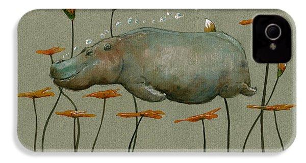 Hippo Underwater IPhone 4s Case by Juan  Bosco