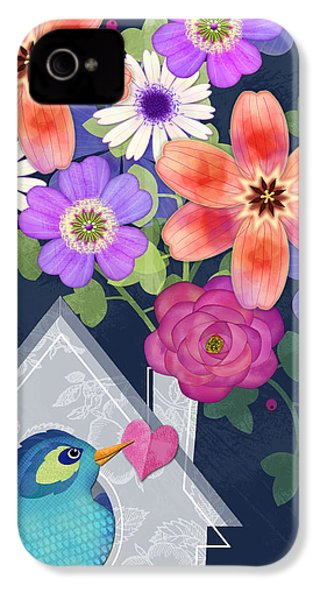 Home Is Where You Bloom IPhone 4s Case