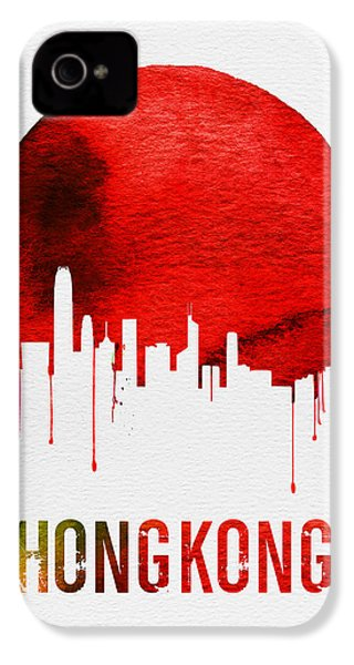 Hong Kong Skyline Red IPhone 4s Case by Naxart Studio
