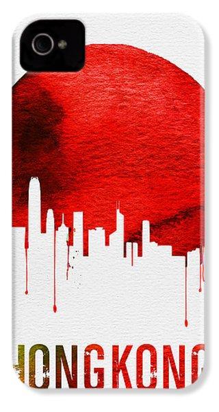 Hong Kong Skyline Red IPhone 4s Case