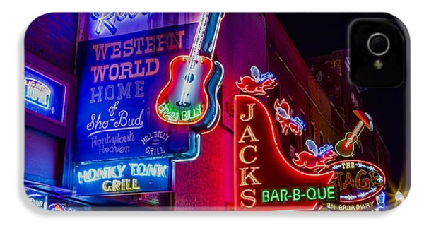 Honky Tonk Broadway IPhone 4s Case by Stephen Stookey
