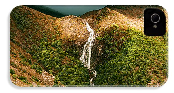 Horsetail Falls In Queenstown Tasmania IPhone 4s Case by Jorgo Photography - Wall Art Gallery