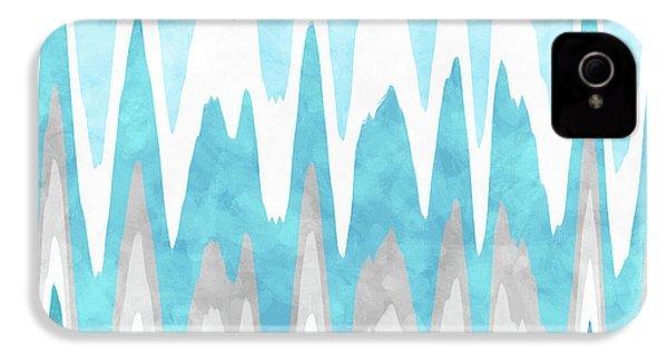 Ice Blue Abstract IPhone 4s Case by Christina Rollo