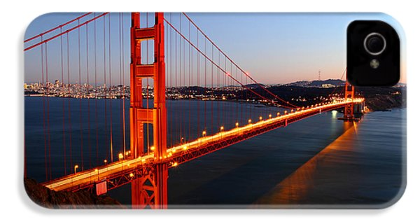 Iconic Golden Gate Bridge In San Francisco IPhone 4s Case by Pierre Leclerc Photography