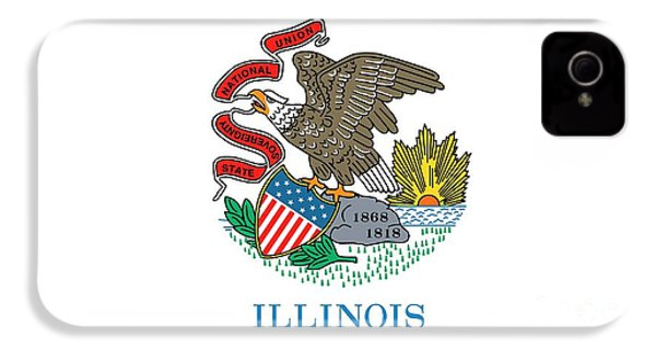 Illinois State Flag IPhone 4s Case by American School