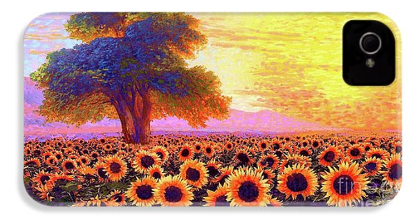 In Awe Of Sunflowers, Sunset Fields IPhone 4s Case