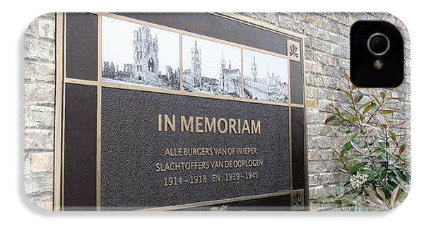 IPhone 4s Case featuring the photograph In Memoriam - Ypres by Travel Pics