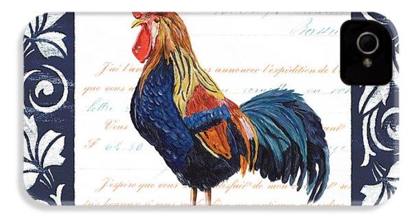 Indigo Rooster 2 IPhone 4s Case by Debbie DeWitt