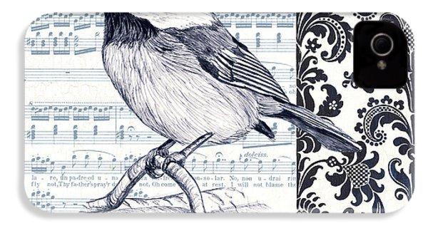 Indigo Vintage Songbird 2 IPhone 4s Case by Debbie DeWitt