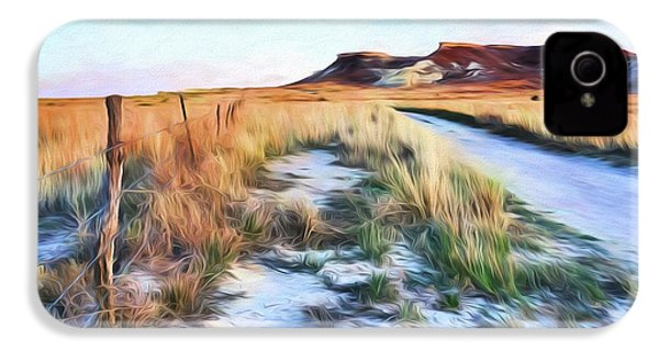 IPhone 4s Case featuring the digital art Into The Kansas Badlands by Tyler Findley