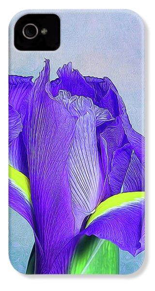 Iris Flower IPhone 4s Case