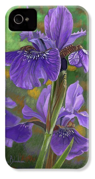 Irises IPhone 4s Case by Lucie Bilodeau