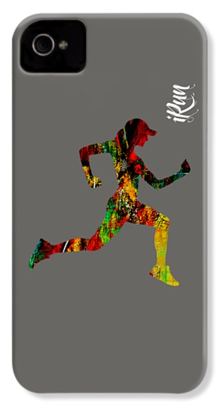iRun Fitness Collection IPhone 4s Case by Marvin Blaine