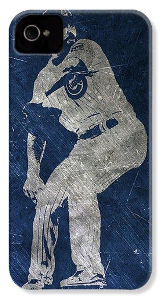 Jake Arrieta Chicago Cubs Art IPhone 4s Case by Joe Hamilton