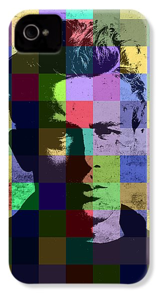 James Dean Actor Hollywood Pop Art Patchwork Portrait Pop Of Color IPhone 4s Case by Design Turnpike