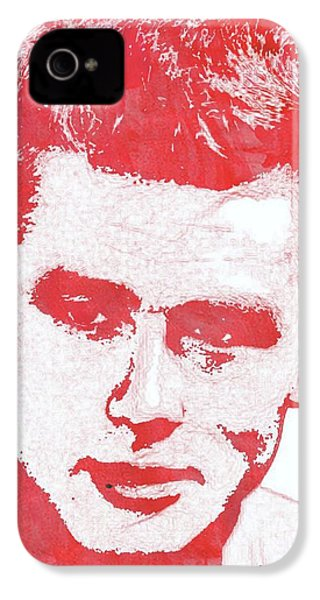 James Dean Pop Art IPhone 4s Case by Mary Bassett