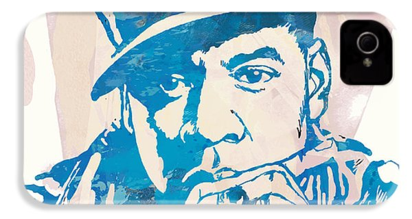 Jay-z  Etching Pop Art Poster IPhone 4s Case by Kim Wang