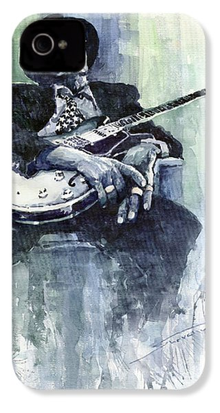 Jazz Bluesman John Lee Hooker 04 IPhone 4s Case by Yuriy  Shevchuk