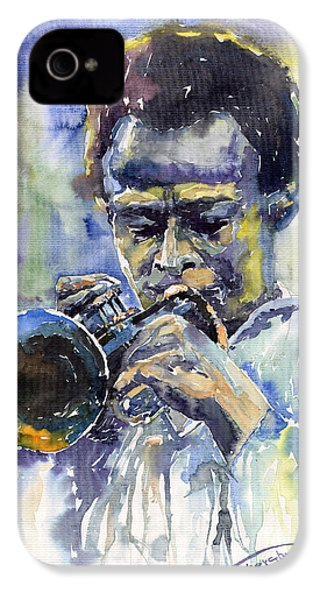 Jazz Miles Davis 12 IPhone 4s Case by Yuriy  Shevchuk
