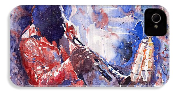 Jazz Miles Davis 15 IPhone 4s Case by Yuriy  Shevchuk