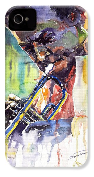 Jazz Miles Davis 9 Blue IPhone 4s Case by Yuriy  Shevchuk