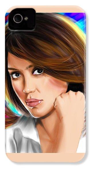 Jessica Alba IPhone 4s Case by Isaac Martinez