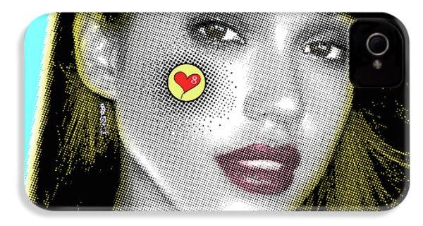 Jessica Alba Pop Art, Portrait, Contemporary Art On Canvas, Famous Celebrities IPhone 4s Case by Dr Eight Love