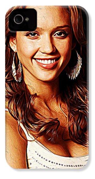 Jessica Alba IPhone 4s Case by Iguanna Espinosa
