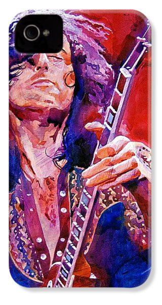 Jimmy Page IPhone 4s Case by David Lloyd Glover
